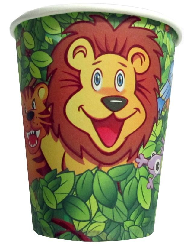 Smiling Safari Paper Cups (Pack Of 10)
