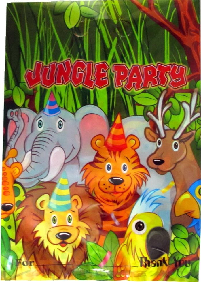 Smiling Safari Party Loot Bags (Pack Of 10)