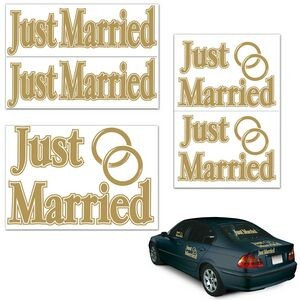 Just Married Auto-Clings (5/pkg)