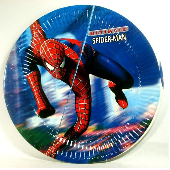 Spiderman Dinner Party Plates - Pack of 8