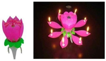 Lotus Shaped Musical Candle