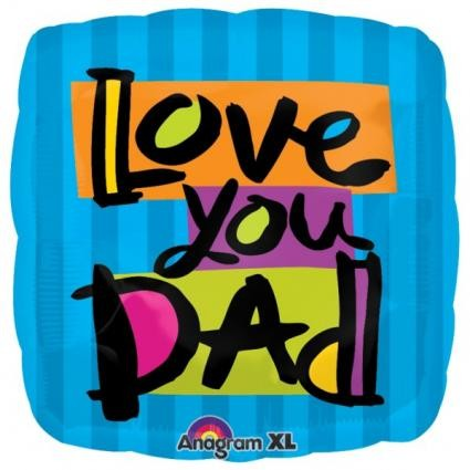 Love You Dad Foil Balloon - 18""