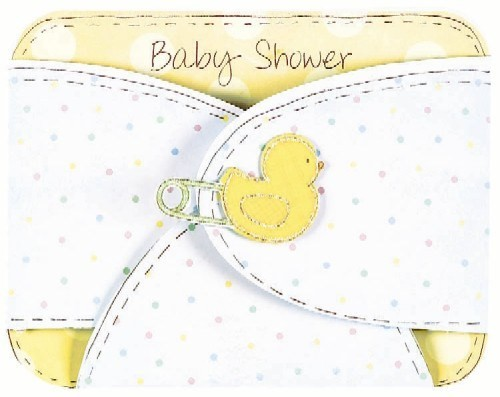 Baby Shower Invitation Cards (Pack Of 8 With Envelopes)