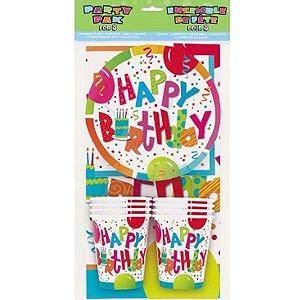 Happy Birthday Party Pack for 8