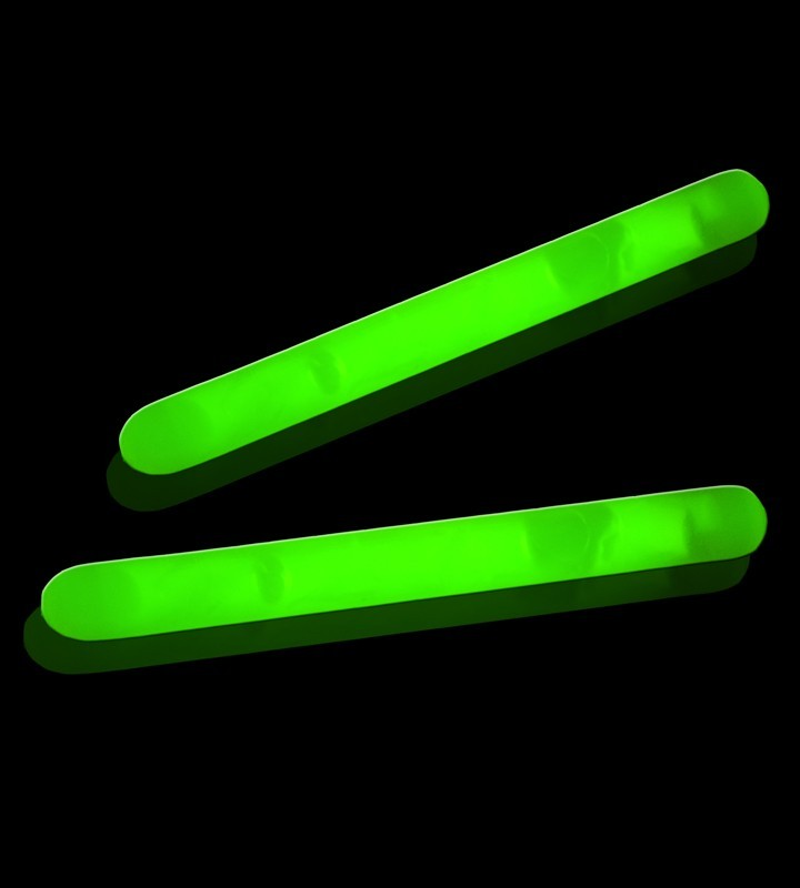 Premium LED Neon Glow Stick ( Green ) - 2 Piece