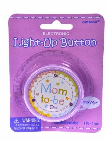 Baby shower Light Up Button