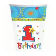 One-Derful Boy Party Paper Cups- Pack of 8
