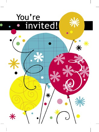 """""""You're Invited"""" Invitation Cards With Envelopes (Pack Of 8 )"""