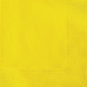Solid Yellow Paper Napkins (Pack Of 20)