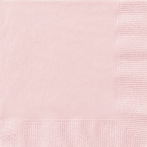 Solid Pink Paper Napkins (Pack Of 20)