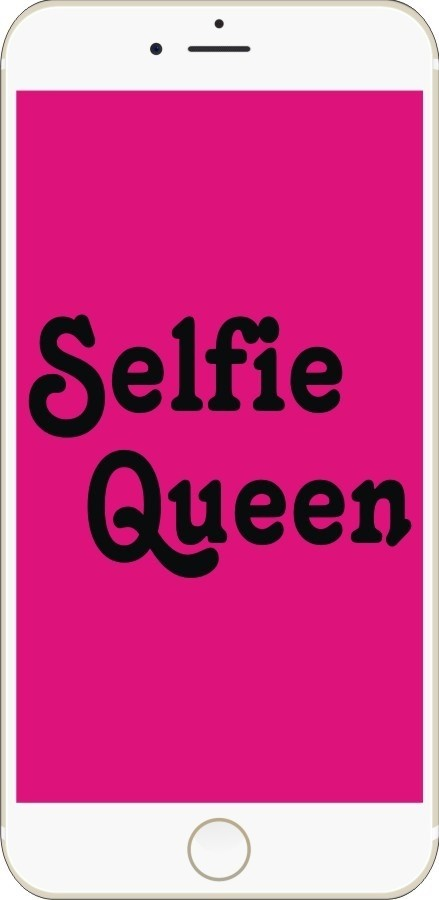Selfie Queen Phone Style Photo Booth Board