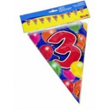 Birthday Flag Banner 3 Years Old