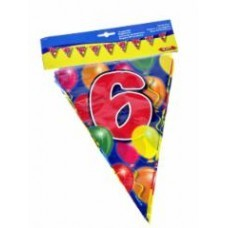Birthday Flag Banner 6 Years Old