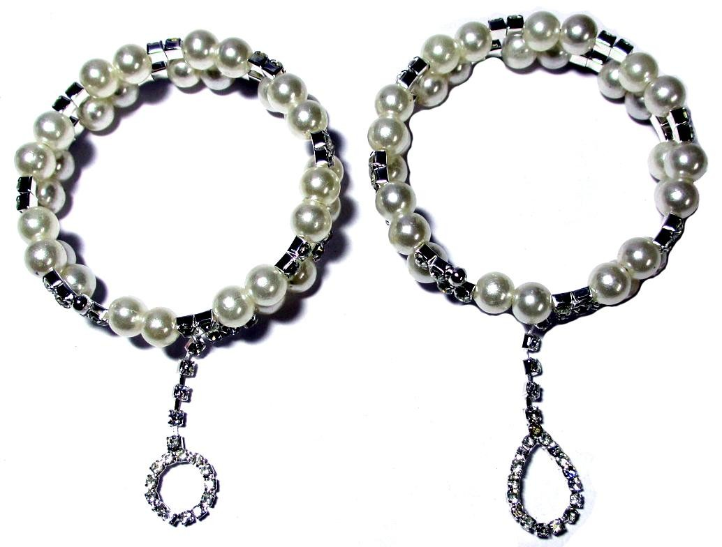 Pearl Bangle with Dangler - (Design 1) Set Of 2