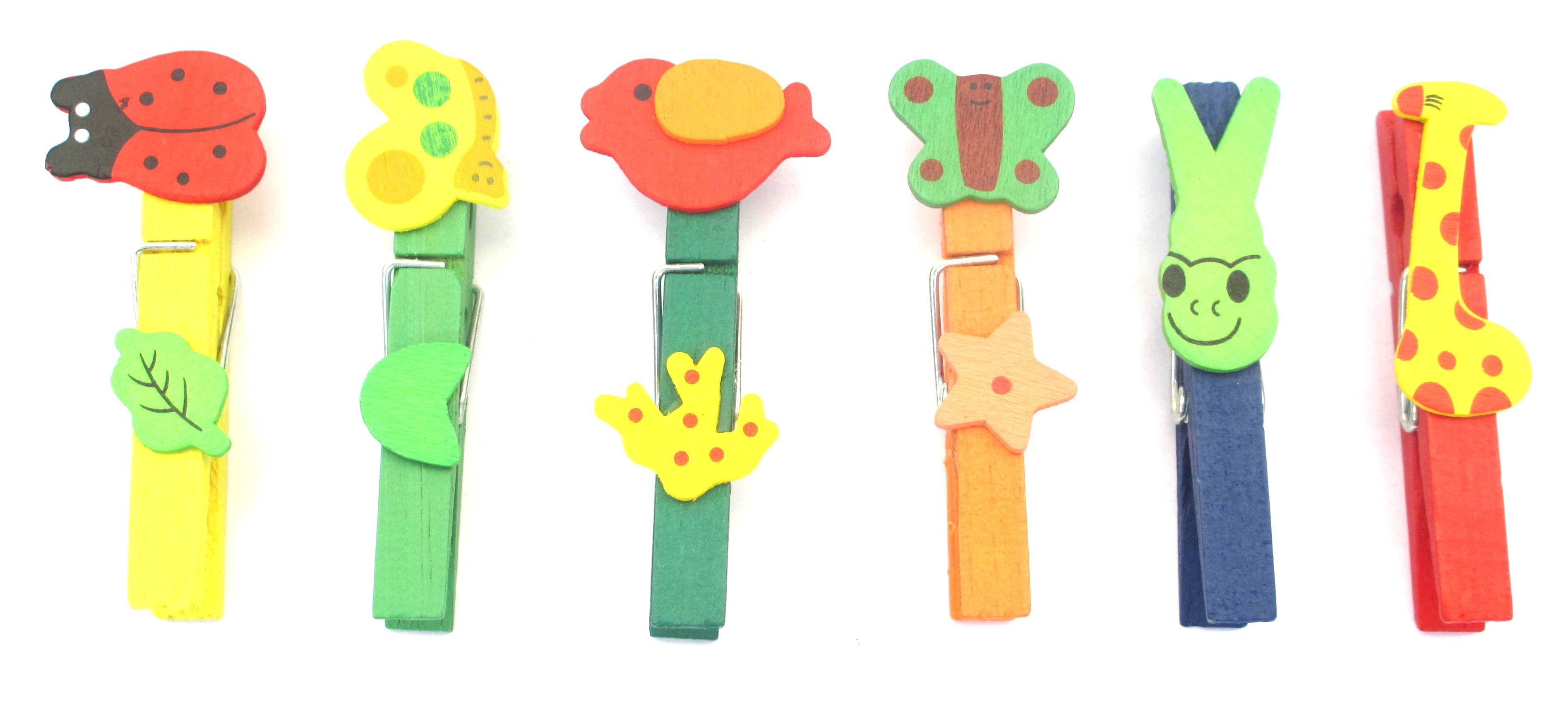 Cute Animal Designs Clips (Pack Of 6)