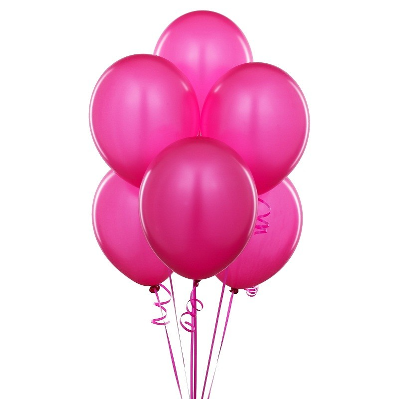 """Pink Latex Balloons (Pack Of 10) - 12"""""""