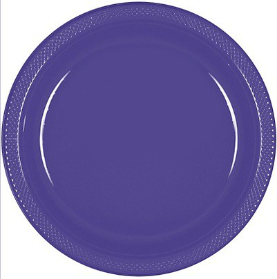 Solid Marine Blue Plastic Dinner Plates ( Pack Of 20)