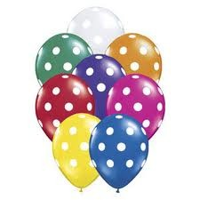 Assorted Polka Dots Latex Balloons (Pack of  8)