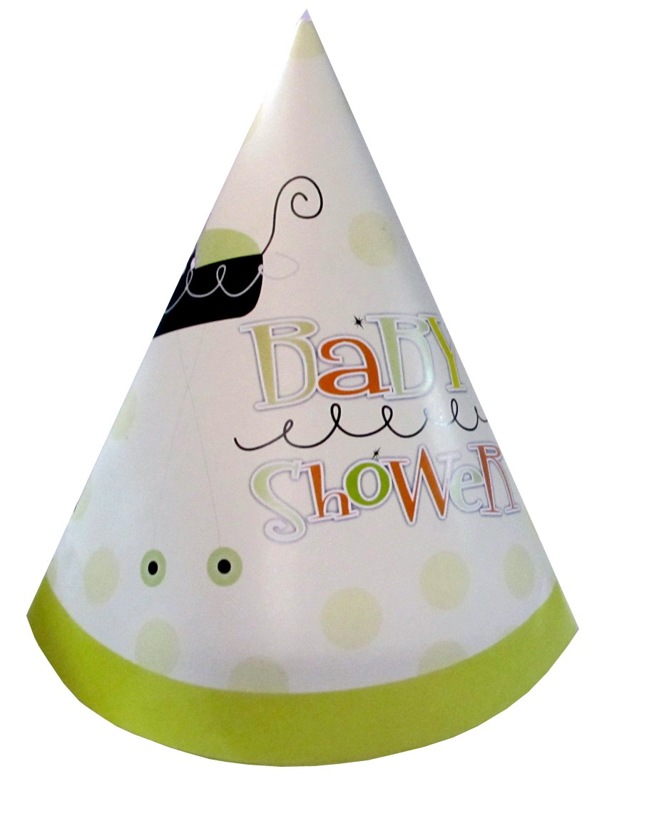 Stroller Fun Baby Shower Cone Cap (Pack Of 10)
