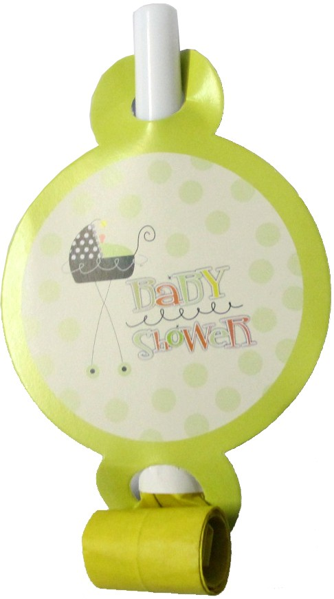 Stroller Fun Baby Shower Paper Horns (Pack Of 10)