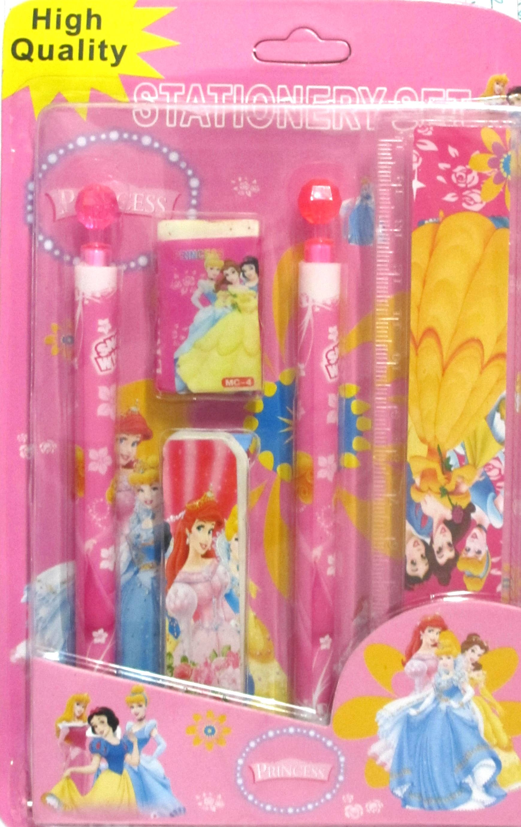 Princess Pencil Stationery Set (6 in 1)