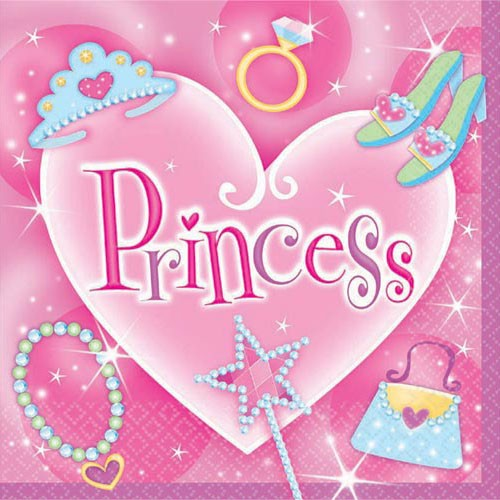Princess Party Paper Napkins (Pack Of 16)
