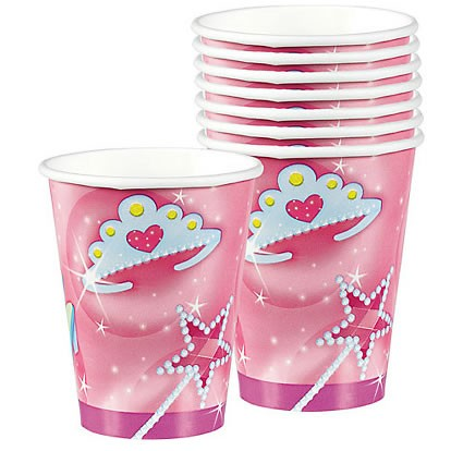 Princess Party Paper Cups ( Pack Of 8)