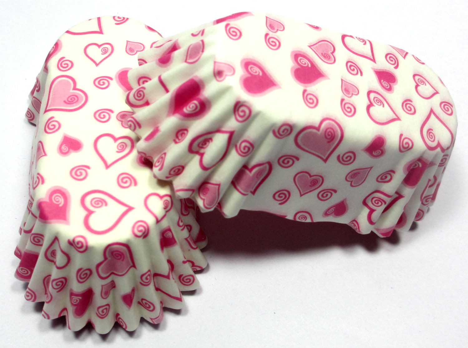Heart Printed Baking Cups - (Set of 50)