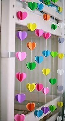 Paper Garland Party Decorations Yellow Blue Turquoise Orange