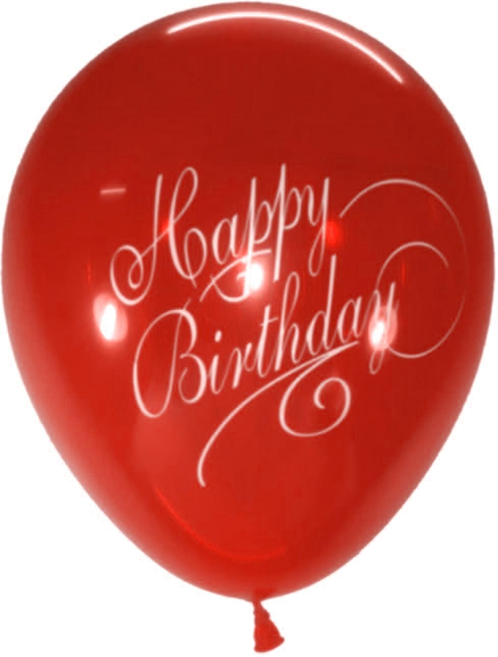 Stylish Happy B'day Latex Balloons (Red) - Pack of 5