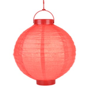 "Red Battery Operated Lantern - 8"" (Pack Of 3)"