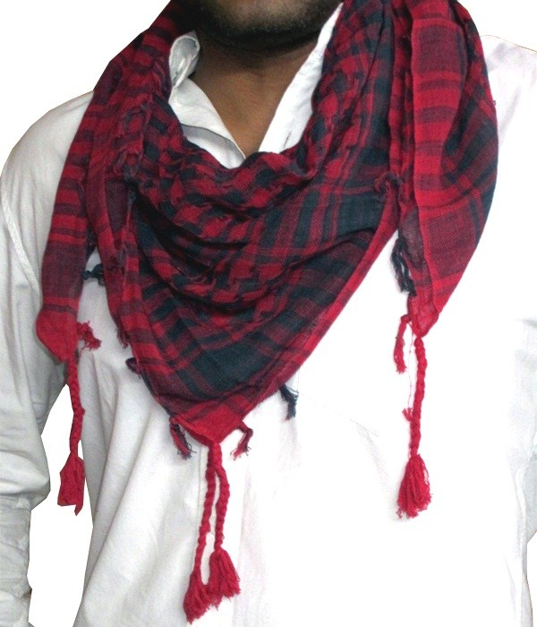 Red and Black Arafat Scarf