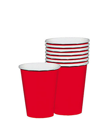Red Paper Cups (Pack Of 10)