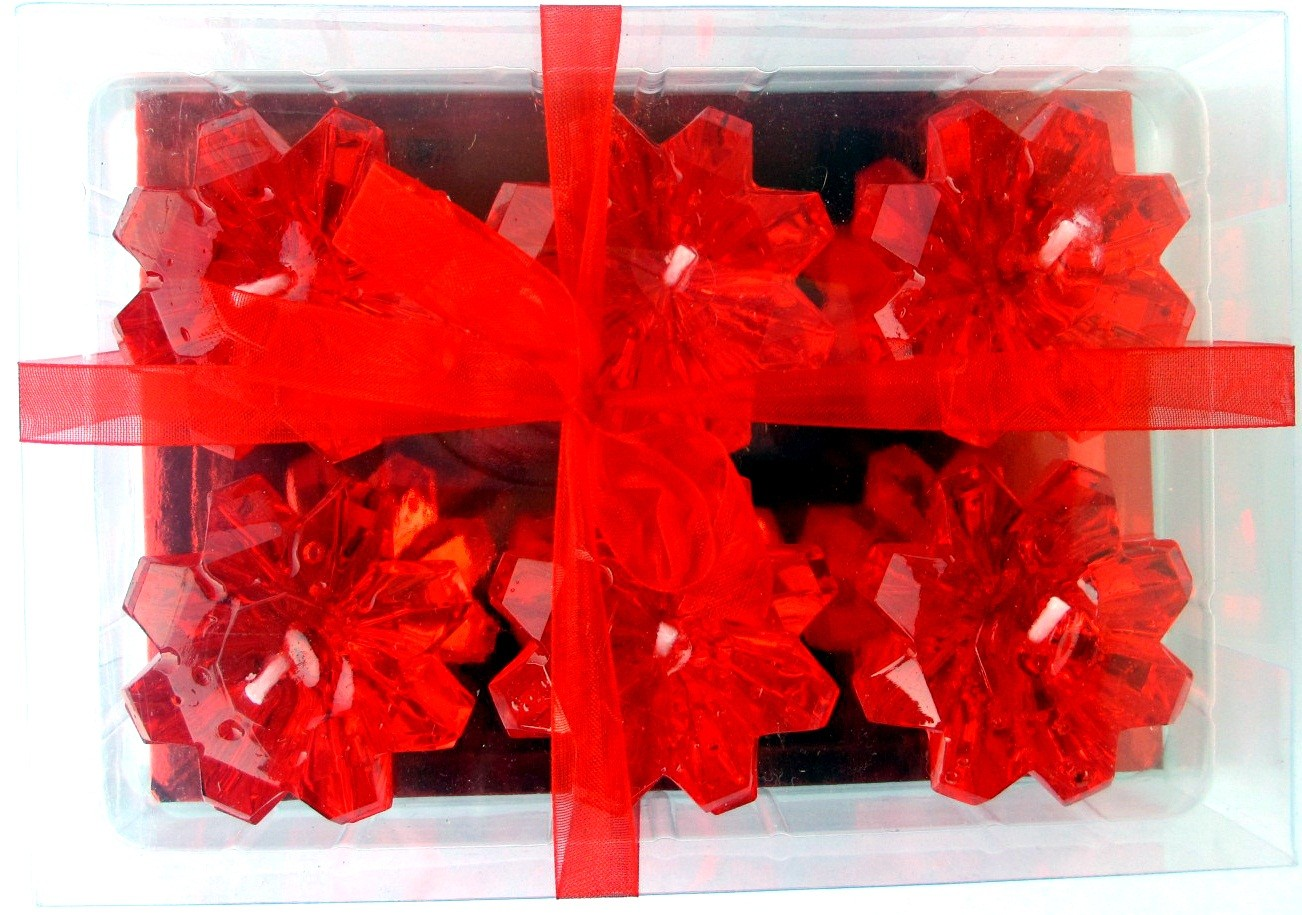 Red Diamond Shaped Floating Candles (Pack of 6)
