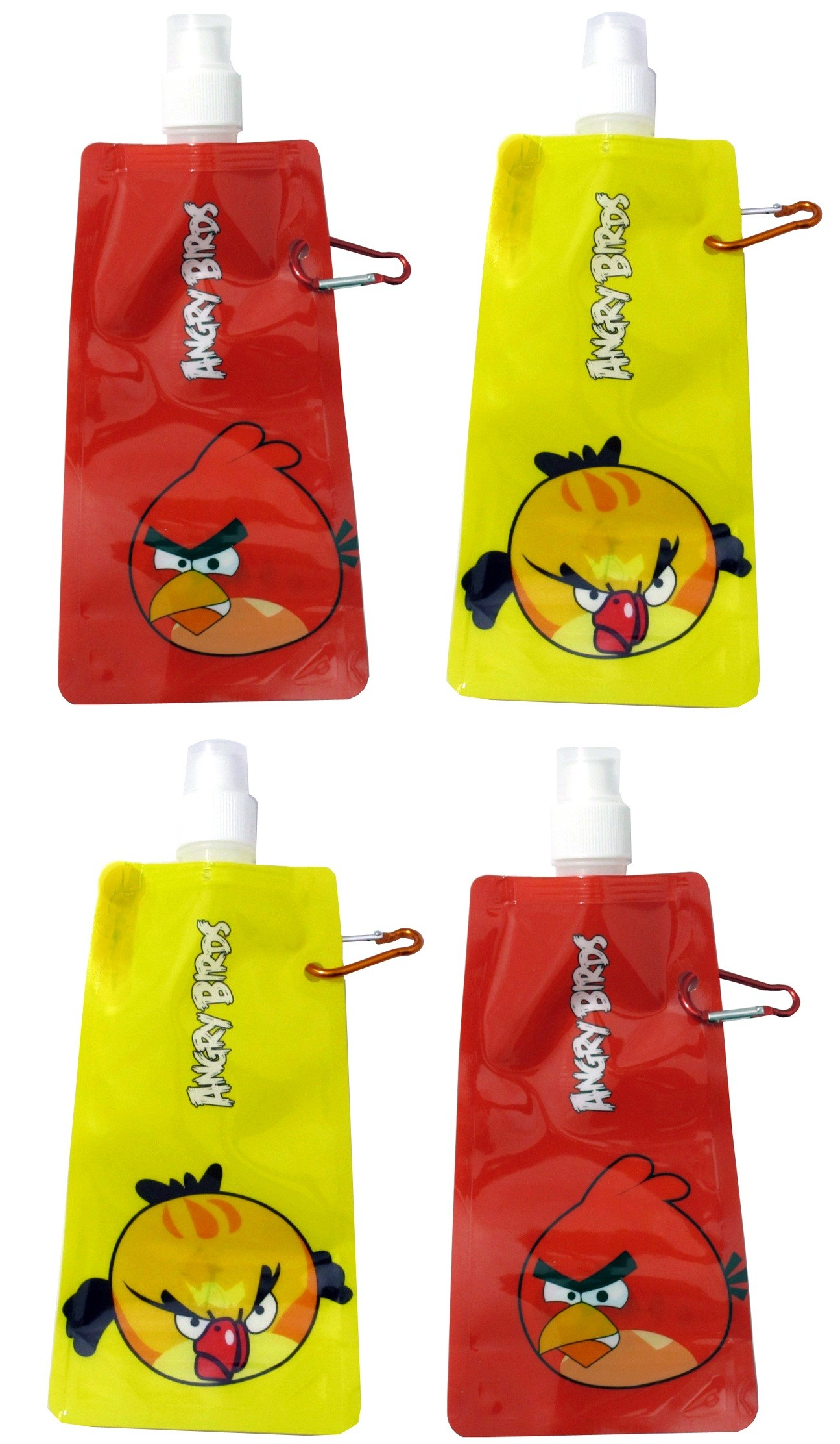 Angry Birds Collapsible Water Bottle (Set Of 4)