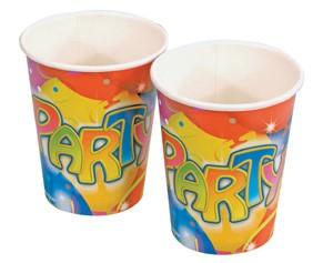 Balloon Party Paper Cups -Pack of 8