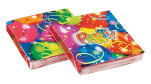 Balloon Party Paper Napkins -Pack of 20