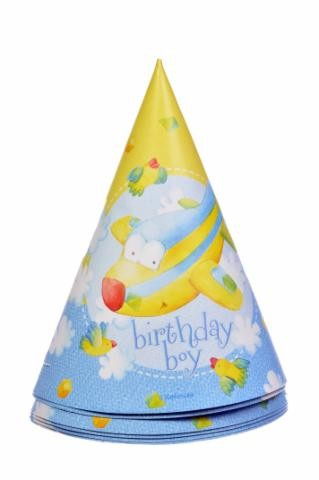 Birthday Boy Party Hats -Pack of 6