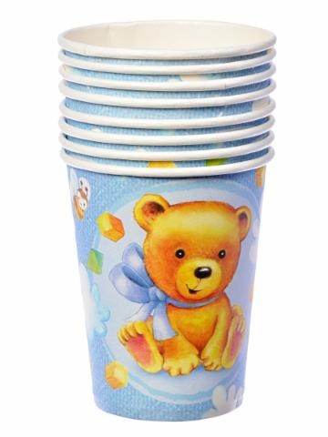 Birthday Boy Party Paper Cups -Pack of 8