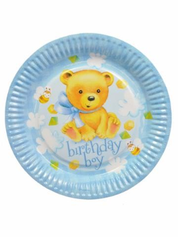 Birthday Boy Party Paper Plates -Pack of 8