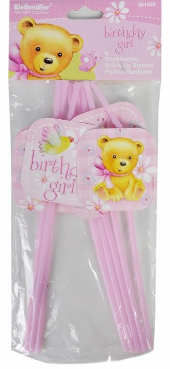 Birthday Girl Party Straws (Pack of 8)