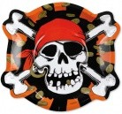 Jolly Roger Pirate Party Plates -Pack of 8
