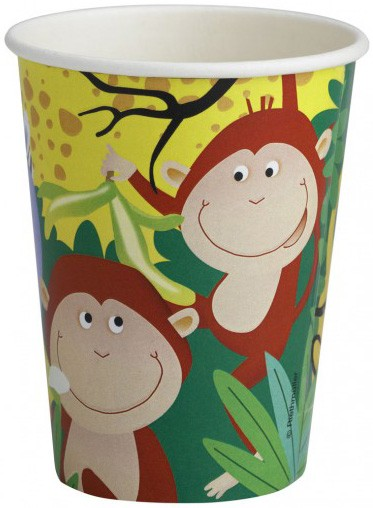Safari Party Paper Cups -Pack of 8