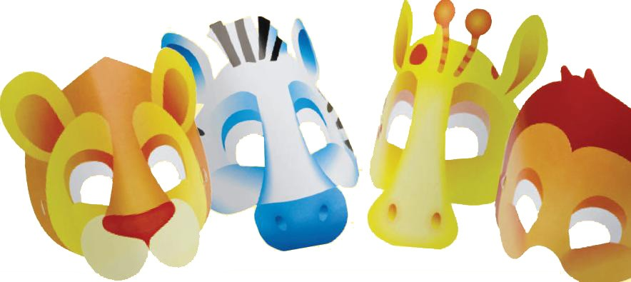 Safari Party Face Masks - Pack of 8