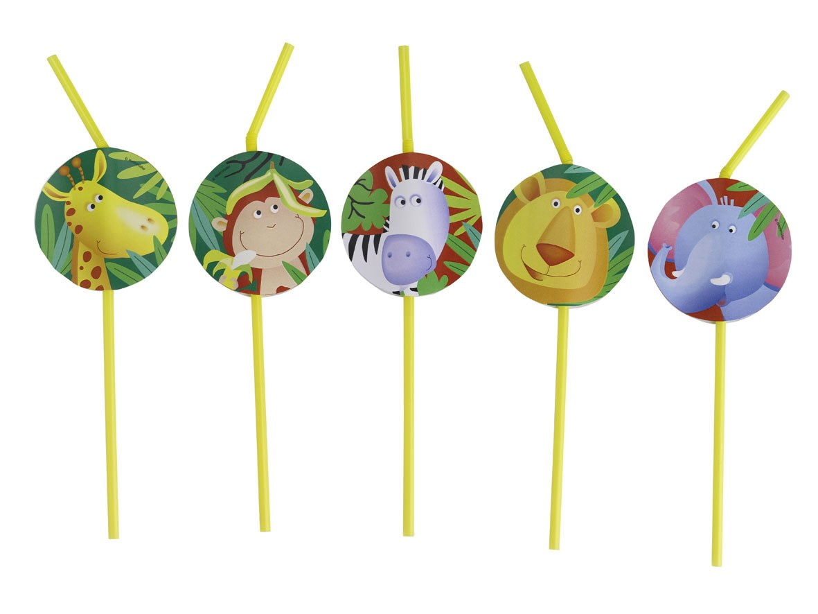 Safari Party Straws -Pack of 8