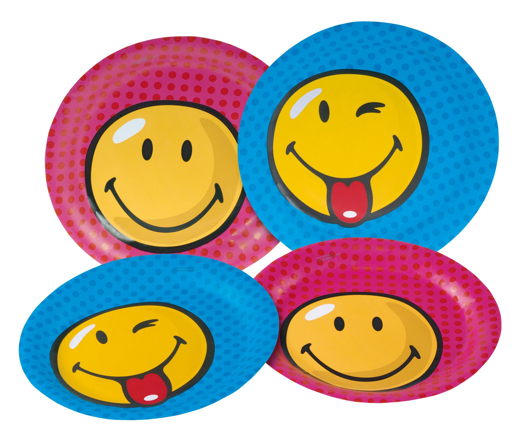 Smiley World Party Paper Plates (Pack Of 8)