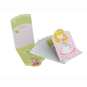 Sweet Little Princess Party Invitation Cards -Pack of 6