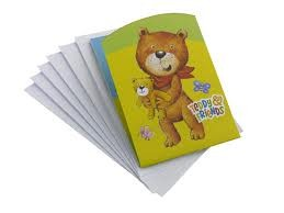 Teddy & Friends Party Invitation Cards -Pack of 6