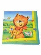 Teddy & Friends Party Paper Napkins -Pack of 20
