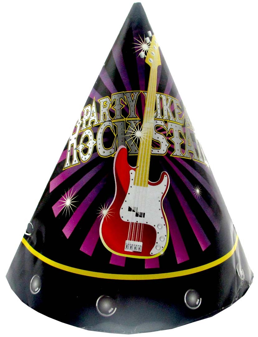 Rockstar Party Hats (Pack Of 10)